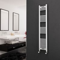 Eastgate 22mm Steel Straight White Heated Towel Rail 1600mm x 300mm - Electric Only - Standard