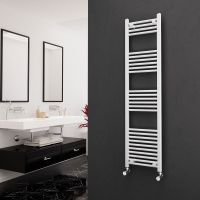 Eastgate 22mm Steel Straight White Heated Towel Rail 1600mm x 400mm - Central Heating