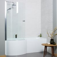 Kartell Adapt 1500mm x 850mm P Shaped Left Hand Bath Only