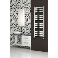 Reina Riva Steel Chrome Designer Heated Towel Rail 1300mm x 500mm Electric Only - Thermostatic