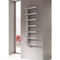 Reina Grosso Stainless Steel Radiator 850mm x 500mm Polished Dual Fuel Thermosttaic