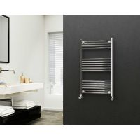 Eastgate 22mm Steel Straight Chrome Heated Towel Rail 1000mm x 600mm - Central Heating, 1780 BTUs