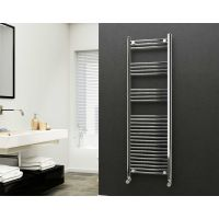 Eastgate 22mm Steel Straight Chrome Heated Towel Rail 1600mm x 500mm - Electric Only - Standard 2484 BTUs