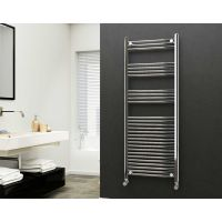 Eastgate 22mm Steel Straight Chrome Heated Towel Rail 1600mm x 600mm - Electric Only - Standard 2881 BTUs