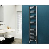 Eastgate 22mm Steel Curved Chrome Heated Towel Rail 1800mm x 400mm - Electric Only - Standard, 2716 BTUs