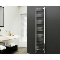 Eastgate 22mm Steel Straight Chrome Heated Towel Rail 1800mm x 400mm - Electric Only - Standard 2716 BTUs