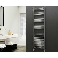 Eastgate 22mm Steel Straight Chrome Heated Towel Rail 1800mm x 500mm - Electric Only - Standard 2854 BTUs