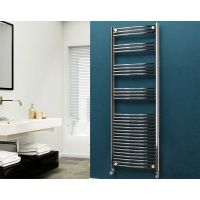Eastgate 22mm Steel Curved Chrome Heated Towel Rail 1800mm x 600mm - Electric Only - Standard, 3313 BTUs