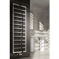 Reina Egna Polished Stainless Steel Designer Heated Towel Rail 1255mm x 500mm
