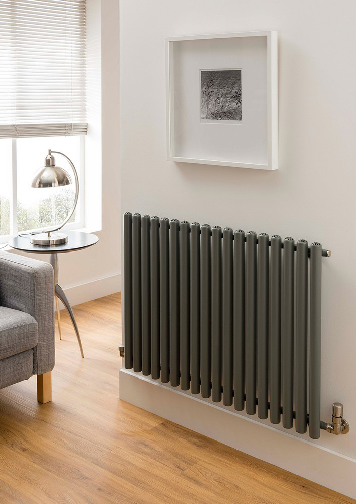TRC Inferno Steel White Horizontal Designer Radiator 600mm x 1215mm