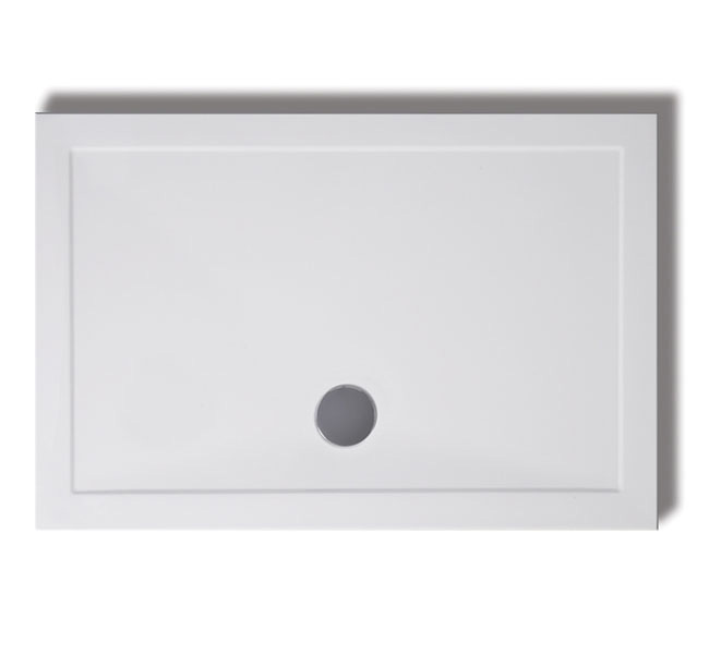 Lakes Rectangular Low Profile Shower Tray with 90mm Waste, 1600mm x 700mm, White - LKTR7016