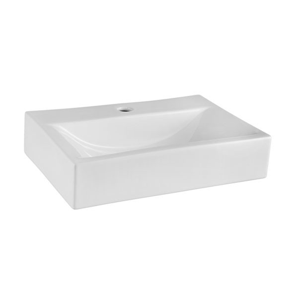 Premier Vessels Vitreous China Rectangular Countertop Basin