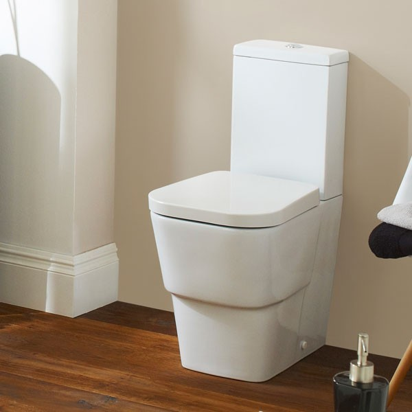 Premier Cambria Vitreous China Closed Coupled Toilet Pan