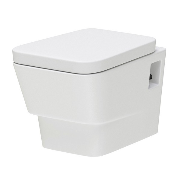 Premier Cambria Vitreous China Wall Hung Toilet Pan With Concealed Cistern & Wall Hung Frame - Soft Close Seat