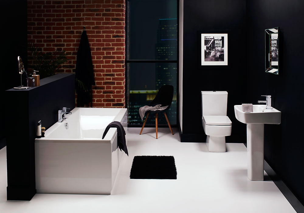 Noir Suite - Complete Bathroom Suite including Toilet,