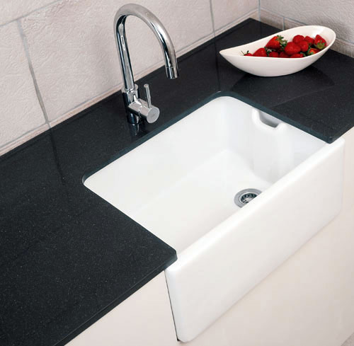 R.A.K Gourmet Sink 8 Belfast Style with Weir Overflow 595mm