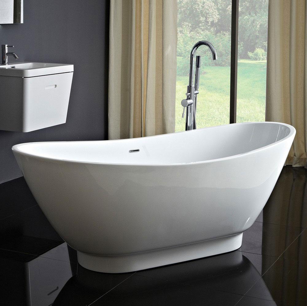 Phoenix Juliet Acrylic Modern Freestanding Bath 1750mm x